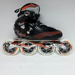 6d7a293c628d Das Bild wird geladen Fila-M-110-black-orange-Speedskate-Marathon-Inline-