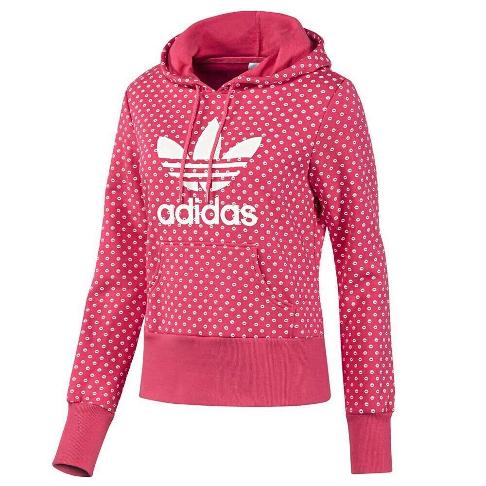 Adidas Original Ladies Adi Trefoil Lips Hoody Pink Stewart Aop