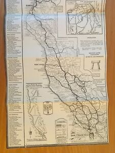 REDWOOD EMPIRE CALIFORNIA San Francisco CA DETAILED MAP 1934 TRAVEL