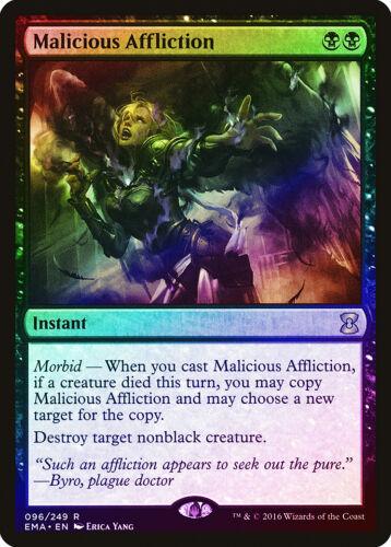 Malicious Affliction FOIL Eternal Masters NM-M Black Rare MAGIC CARD ABUGames