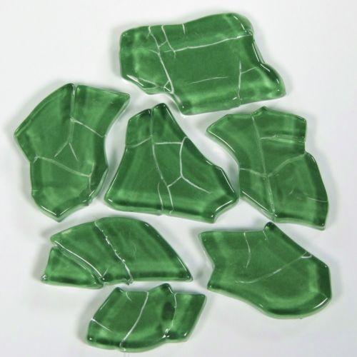 Crash en verre-vert foncé