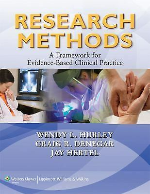 RESEARCH METHODS - CRAIG R. DENEGAR PH.D., WENDY HURLEY PHD (PAPERBACK) LIKE NEW