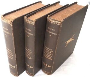 1884-Prose-Masterpieces-from-Modern-Essayists-3-Volume-set