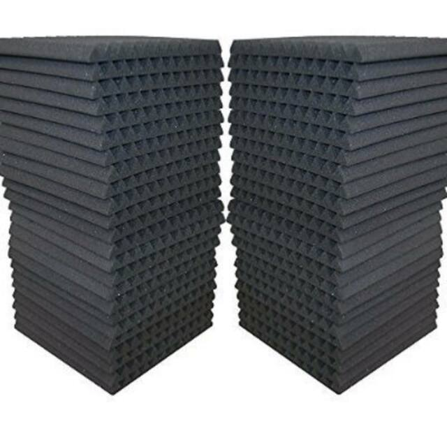 48 Pack 12 X 12 Sound Quality Acoustic Panels Studio Soundproofing Foam Wedge
