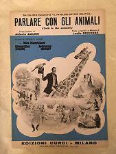 SPARTITO MUSICALE PARLARE CON GLI ANIMALI FILM IL FAVOLOSO DOTTOR DOLITTLE 1967