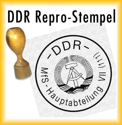 111 Hauptabteilung VII DDR Stempel + Kissen MfS