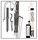 Non-Glare Tactical Survival Knife The Jungle Master with Compass & Survival Kit