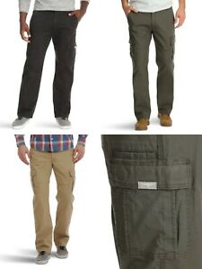 New-Wrangler-Men-039-s-Relaxed-Fit-Cargo-Pant-with-Stretch-All-Sizes