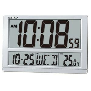 Large digital day date clock