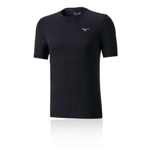 MIZUNO-Da-Uomo-Impulso-Core-in-esecuzione-T-Shirt-Tee-Top-Nero-Sport-Traspirante