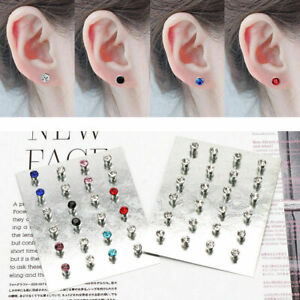 Multi-12-Pairs-Crystal-Rhinestone-Magnetic-Clip-Non-Piercing-Earrings-Jewelry