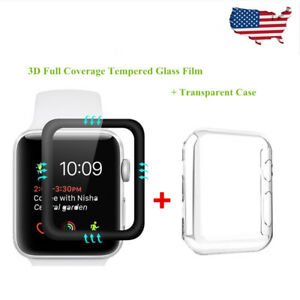 Apple-Watch-Series-3-2-1-Tempered-Glass-Screen-Protector-Soft-TPU-Case-38mm