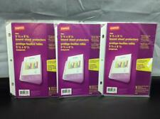 Staples Clear 3 Pack 5 12 X 8 12 Sheet Protector 10 Sheets In One Spine
