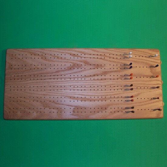 6-player De Madera Cribbage Board + Marcador clavijas C   de almacenamiento y Mazo De Cartas