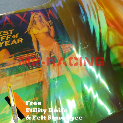 *1/'x1/' ft Galaxy Neo Golden Yellow Headlight Taillight Fog Light Vinyl Tint Film