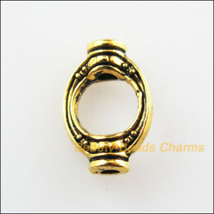 30Pcs-Antiqued-Gold-Tone-Oval-Beads-Frame-Spacer-Beads-Charms-8x11-5mm