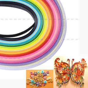 Multi-Color-160-Strisce-Quilling-Carta-Per-Tavoletta-Biglietti-Segnalibri-DIY