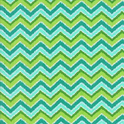 Folklore Chevron Peacock Priced Per ½ Yard 11484-15 Lily Ashbury Moda