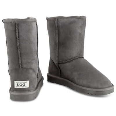OZWEAR Connection Unisex Classic 3/4 Ugg Boot - Charcoal