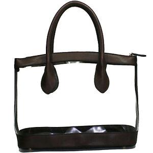 Image is loading Women-Clear-Handbag-See-Through-Purse 574e4ebdc2469