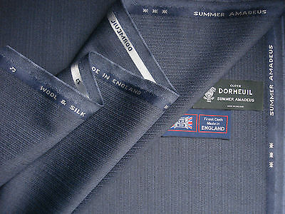3.4 m MADE IN ENGLAND DORMEUIL /'AMADEUS 365/' LUXURY WOOL SUITING FABRIC