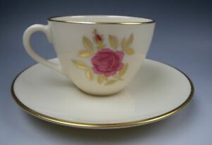 Lenox-China-ROSELYN-Demitasse-Cup-amp-Saucer-Set-s-EXCELLENT