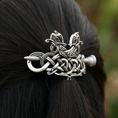 Viking Knots Runes Double Dragons Hairpin Hair Jewelry Accessories Hair Clips