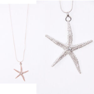 New-LAGENLOOK-Silver-Rose-Gold-Star-Fish-Pendant-Chain-Long-Necklac