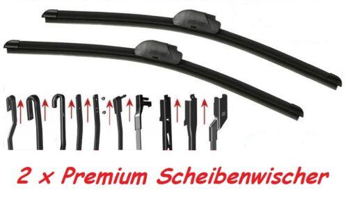 2x premium Scheibenwischer Set für Peugeot 207 /& CC /& SW ab 2006 Super Optik OVP