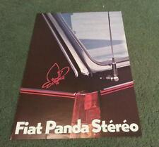1982 Fiat PANDA STEREO Special Edition - FRENCH FOLDER BROCHURE