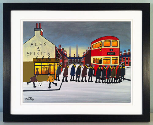 """JACK KAVANAGH /""""GOING TO THE MATCH/"""" HULL CITY FRAMED PRINT"""