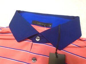 Greyson-Golf-Performance-Fabric-Chickasaw-Striped-Polo-Golf-Shirt-NWT-Medium-95