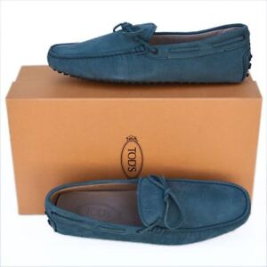 TOD-039-S-Tods-New-sz-UK-8-5-US-9-5-Auth-Designer-Mens-Drivers-Loafers-Shoes-blue