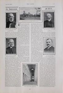 1903 PRINT ELY REV LORD ALWYNE COMPTON BISHOP CATHEDRAL BERTRAM HALL EMERY