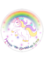 RAINBOW-UNICORN-PERSONALISED-EDIBLE-BIRTHDAY-CAKE-TOPPER-A4-CIRCLE thumbnail 2