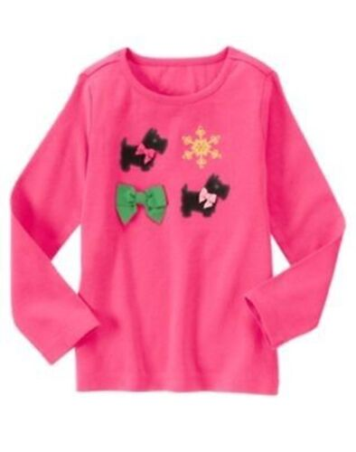NWT Gymboree 4 6 8 CHEERY ALL THE WAY Pink Top Scottie Dog Shirt