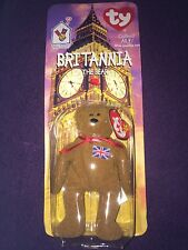 NIP Beanie Baby Teenie Beanie Brittania Bear Brexit Bear Briton Bear Union Jack