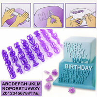40Pcs Alphabet Letter Number Fondant Cake Biscuit Baking Mould Cookie Cutters