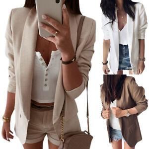 Women-Lapel-OL-Blazer-Coat-Casual-Work-Jacket-Long-Sleeve-Outwear-Cardigan-Suit