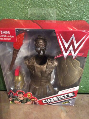 "WWE créer une superstar Knight Expansion Pack Dress up WWE figurines 6/"" pouces NOUVEAU"