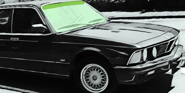BMW 7er 7-er E23  BJ 1976 – 1987 Windschutzscheibe Frontscheibe grün + Grünkeil