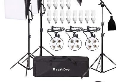 MOUNTDOG Softbox Lighting Kit 360W 20x 28 2 pcs Softbox Professional Studio Photography for Portrait Photo Video Shooting