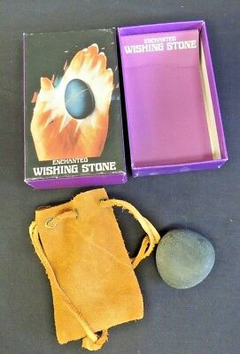 Merchandise & Memorabilia Vintage Enchanted Wishing Stone Personal Talisman Leather Pouch Rituals Chants Rocks, Fossils & Minerals