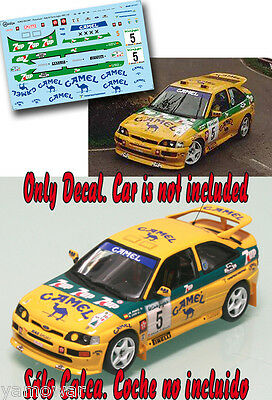C059 Decal 1:43 Bert de Jong FORD ESCORT COSWORTH Rally El Corte Ingles 1997