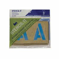 Duro By Graphic Products Stencil-it Oil Board Stencil Set 3 3-... Free Shipping