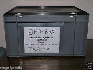 10 lagerk sten eurobox mit deckel beh lter stapelbox boxen. Black Bedroom Furniture Sets. Home Design Ideas