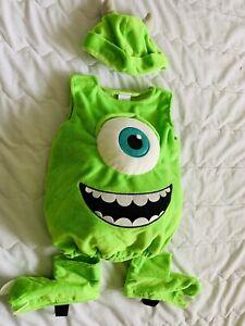 Disney Pixar Monster Inc Mike Wazowski Costume Infant 6 9 Months Ebay