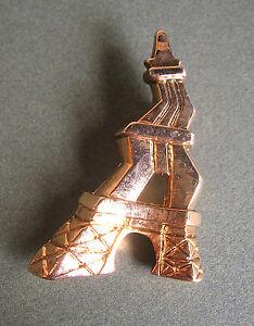 AgréAble 539 / Frederic Volle / Tour Eiffel / Broche En Resine Doree Apparence EsthéTique