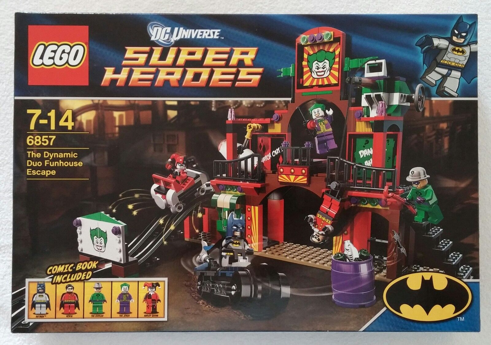 LEGO ® DC Super Heroes Batman ™ 6857 The Dynamic Duo Funhouse Escape NOUVEAU & NEUF dans sa boîte New