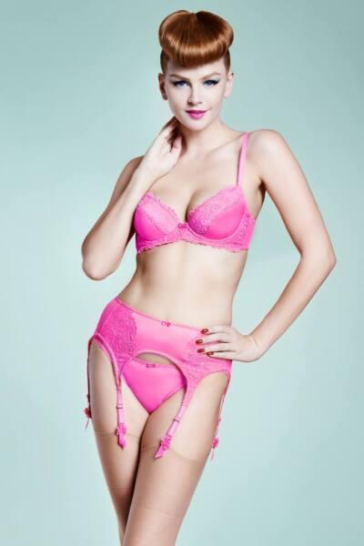 Dita von Teese Showgirl Straps Strumpfhalter pink 36 38 40 42 44